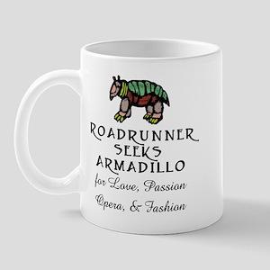 Roadrunner Seeks Armadillo Mug