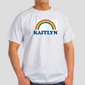 KAITLYN (rainbow) Ash Grey T-Shirt