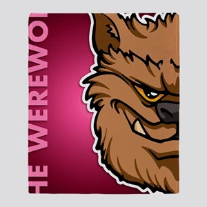 11x17_print_werewolf_txt Throw Blanket
