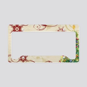 Christmas Love Collage Pine T License Plate Holder