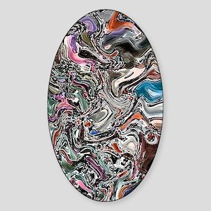 Graffiti Art Sticker (Oval)