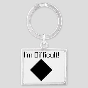 Im-Difficult-black Landscape Keychain