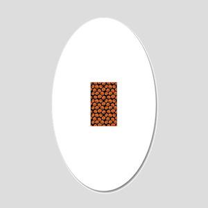 Halloween Pumpkin Flip Flops 20x12 Oval Wall Decal