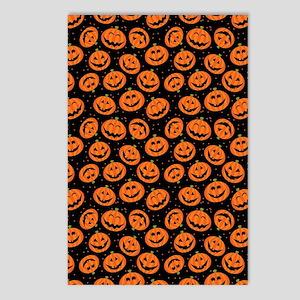 Halloween Pumpkin Flip Fl Postcards (Package of 8)