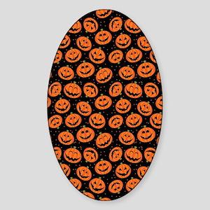 Halloween Pumpkin Flip Flops Sticker (Oval)