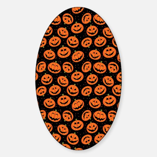 Halloween Pumpkin Flip Flops Sticker (Oval)