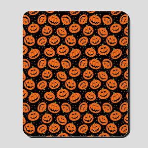 Halloween Pumpkin Flip Flops Mousepad