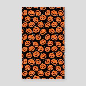 Halloween Pumpkin Flip Flops Rectangle Car Magnet
