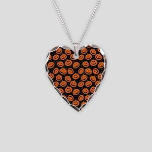 Halloween Pumpkin Flip Flops Necklace Heart Charm
