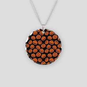 Halloween Pumpkin Flip Flops Necklace Circle Charm