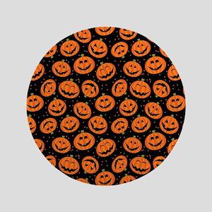 """Halloween Pumpkin Flip Flops 3.5"""" Button"""