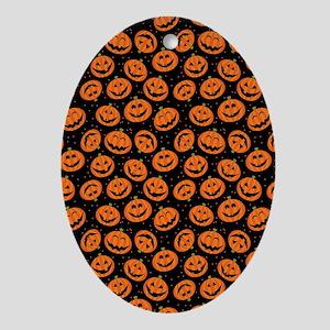 Halloween Pumpkin Flip Flops Oval Ornament