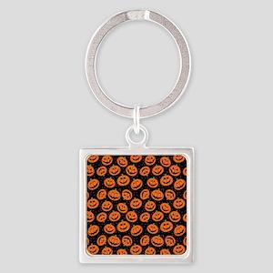 Halloween Pumpkin Flip Flops Square Keychain