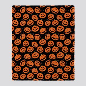 Halloween Pumpkin Flip Flops Throw Blanket