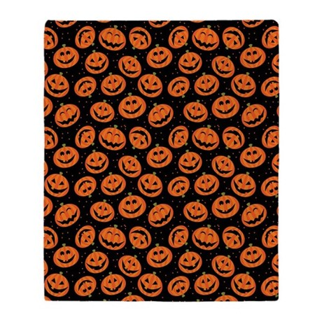 HALLOWEEN PUMPKIN THROW BLANKET