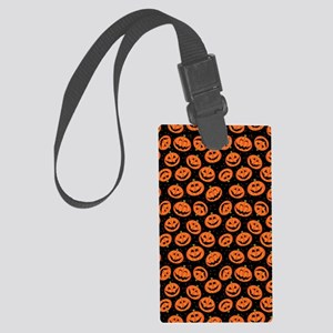 Halloween Pumpkin Flip Flops Large Luggage Tag