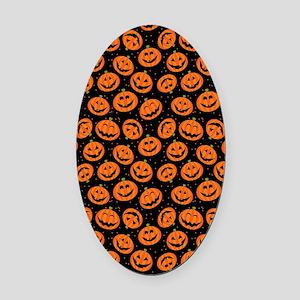 Halloween Pumpkin Flip Flops Oval Car Magnet