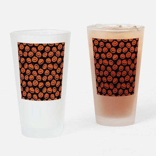 Halloween Pumpkin Flip Flops Drinking Glass