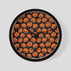 Halloween Pumpkin Flip Flops Wall Clock