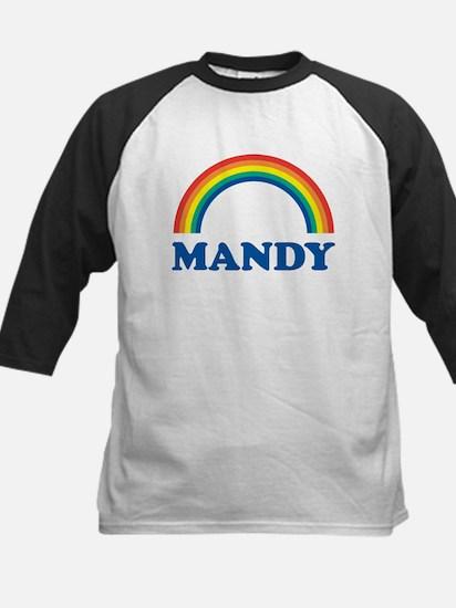 MANDY (rainbow) Kids Baseball Jersey