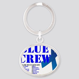 blue crew 4men Oval Keychain