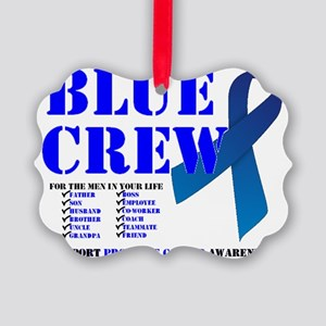 blue crew 4men Picture Ornament