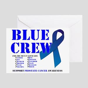 blue crew 4men Greeting Card