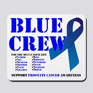 blue crew 4men Mousepad