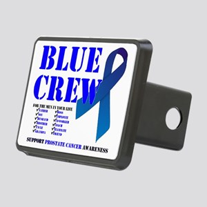 blue crew 4men Rectangular Hitch Cover