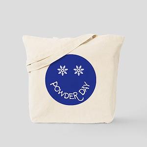 powder day face Tote Bag