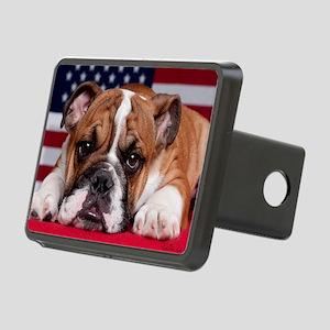 Patriot Bulldog Rectangular Hitch Cover