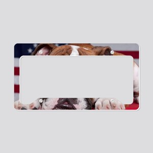 Patriot Bulldog License Plate Holder