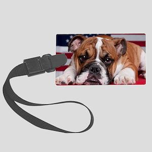 Patriot Bulldog Large Luggage Tag