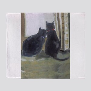 Black Cats Throw Blanket