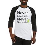 Never Give Up, Never Surrende Baseball Jersey