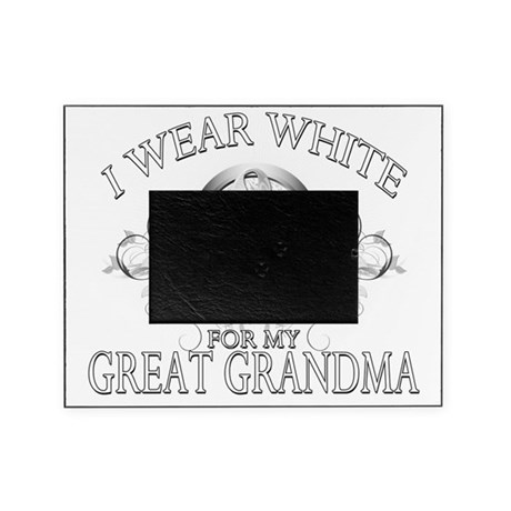 I Wear White for my Great Grandma (f Picture Frame by Admin_CP17129921