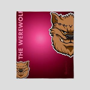 flipflop_werewolf Throw Blanket