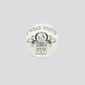 I Wear White for my Dad (floral) Mini Button