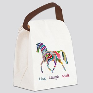 horse rainbow_horselarge live lov Canvas Lunch Bag