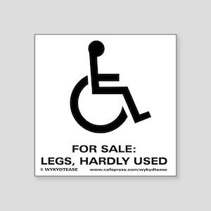 "Leg 4 Sale Square Sticker 3"" x 3"""
