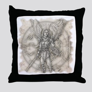 MichaelSquareBlk Throw Pillow