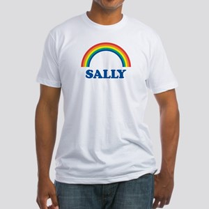 SALLY (rainbow) Fitted T-Shirt