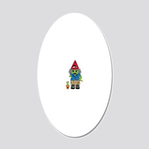 zombiegnome-01 20x12 Oval Wall Decal
