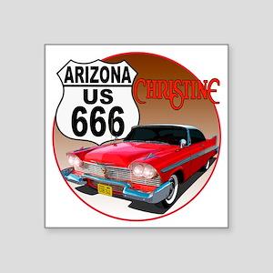 "666-AZ-Christine-C10trans Square Sticker 3"" x 3"""