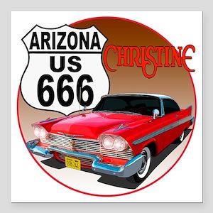 "666-AZ-Christine-C10tran Square Car Magnet 3"" x 3"""