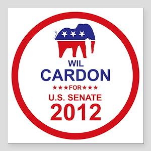 "2012_wil_cardon_main Square Car Magnet 3"" x 3"""
