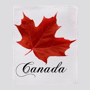 O-Canada-MapleLeaf-Ottawa-4-blackLet Throw Blanket