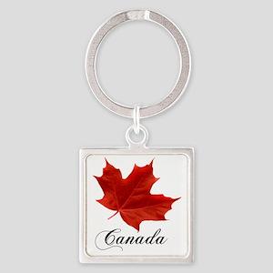 O-Canada-MapleLeaf-Ottawa-4-blackL Square Keychain