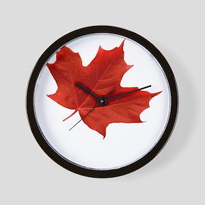 O-Canada-MapleLeaf-Ottawa-4-whiteLetter Wall Clock