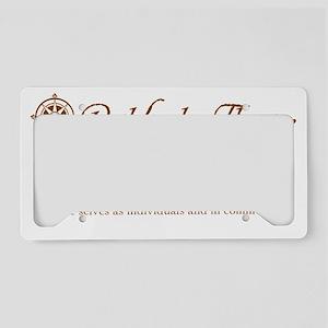 Pathfinder-Theatre-brown-rect License Plate Holder